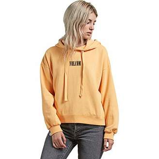 Volcom Junior's Knew Wave Boxy Pullover Graphic Hooded Sweatshirt