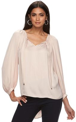 Women's Jennifer Lopez High-Low Peasant Top $48 thestylecure.com