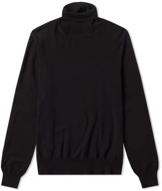 Maison Margiela Cut Out Elbow Patch Turtle Neck Knit