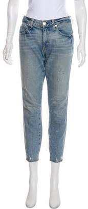 Amo Stix Crop Mid-Rise Straight-Leg Jeans