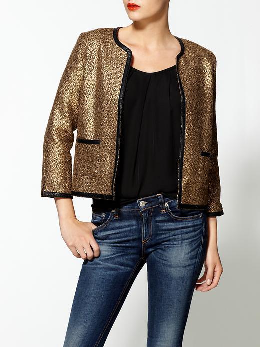Aryn K. Metallic Ladylike Jacket