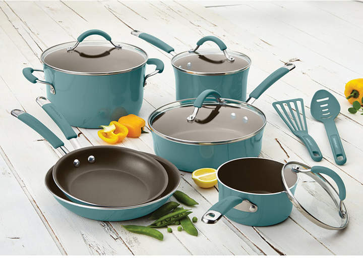 Rachael Ray Cucina Hard Enamel Nonstick 12-Piece Cookware Set