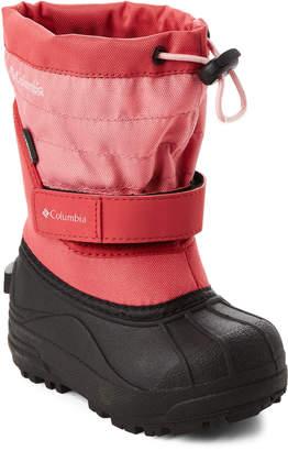 Columbia Toddler/Kids Girls) Wild Salmon Powderbug Plus II Snow Boots