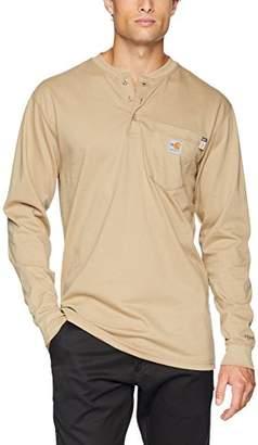 Carhartt Men's Flame Resistant Force Cotton Long Sleeve Henley
