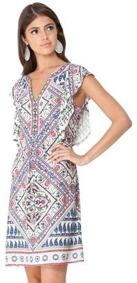 Hale Bob Mahina Ruffled Jersey Dress