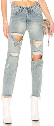 One Teaspoon Awesome Baggies High Waist Straight Leg Jean.