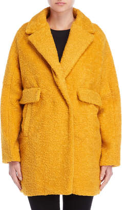 Made In Italy Textured Boucle Coat
