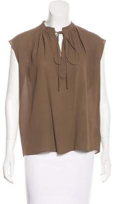 Michael Kors Silk Sash-Tie Blouse