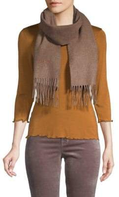 Moschino Solid Wool Scarf