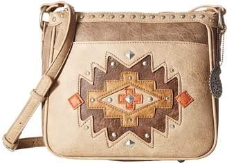 American West Earth Bound Zip Top Crossbody Cross Body Handbags