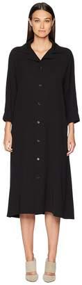 Yohji Yamamoto Y's by U-Open Collar Shirtdress Women's Dress