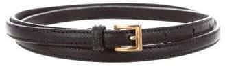 Prada Skinny Saffiano Leather Belt