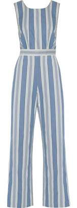 MiH Jeans Striped Cotton-Chambray Jumpsuit