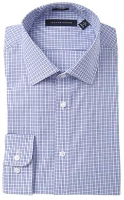 Tommy Hilfiger Blue Check Slim Fit Dress Shirt