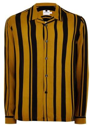 Topman Tapenade Stripe Shirt