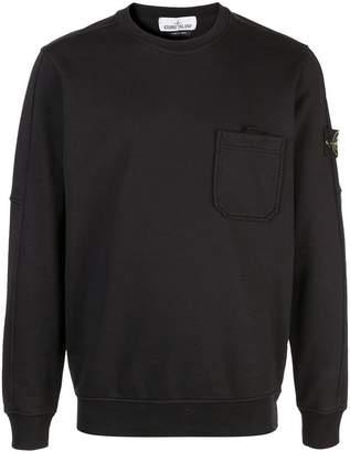 Stone Island black logo sweater