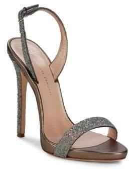 Giuseppe Zanotti Glittered Sling Back Sandals