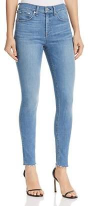 Rag & Bone High-Rise Raw-Edge Skinny Jeans in Alibi
