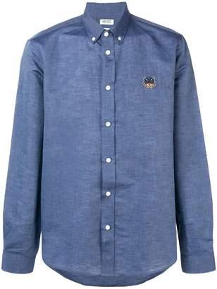 Kenzo button down logo embroidered shirt