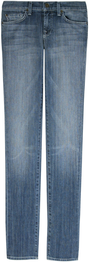 7 For All Mankind Seven Roxanne Cotton Blue Jeans