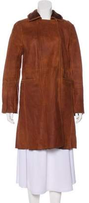 Joseph Knee-Length Leather Coat