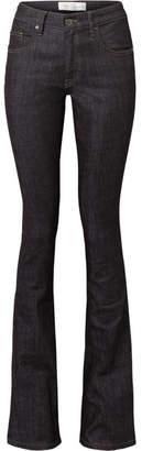 Victoria Beckham Victoria, Mid-rise Flared Jeans - Dark denim