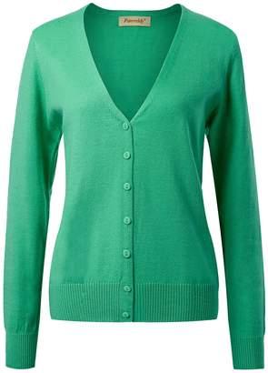 4926e633aa2a Panreddy Women s Wool Cashmere Classic Cardigan Sweater XL Black