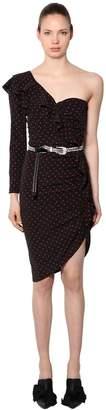 Veronica Beard Leona Polka Dot Silk Dress
