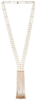 BCBGeneration Goldtone Crystal Y-Shaped Multi Chain Necklace