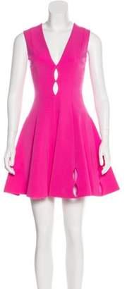 Cushnie Laser Cut Mini Dress Pink Laser Cut Mini Dress