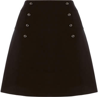 Karen Millen Tailored Mini A-Line Skirt