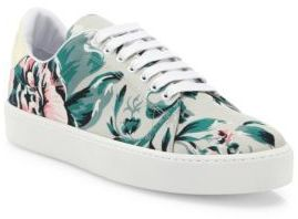 Burberry Westford Floral-Print Canvas Sneakers