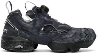 Vetements Black Reebok Edition Instapump Fury Sneakers