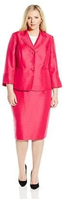 Le Suit LeSuit Women's Plus-Size Shimmer 3 Button Lapel Suit