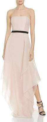 Halston Strapless Jacquard Gown