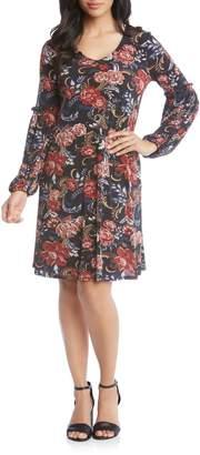 Karen Kane Harper Floral Print Dress
