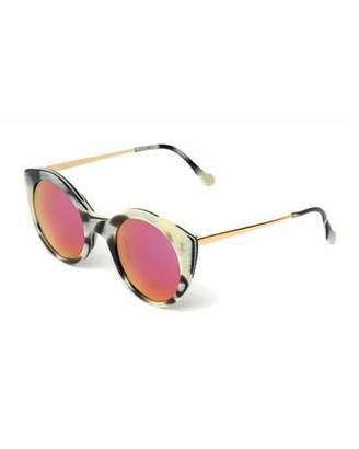 Illesteva Palm Beach Mirrored Sunglasses, Horn/Pink $240 thestylecure.com