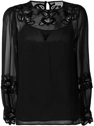 MICHAEL Michael Kors long sleeved sheer blouse