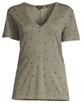Rails Cara Linen-Blend T-Shirt