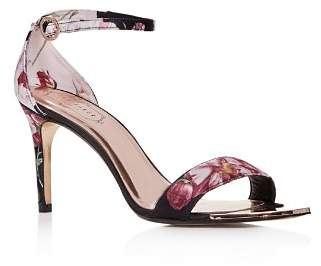 Ted Baker Women's Mylli Floral Satin Ankle Strap High-Heel Sandals
