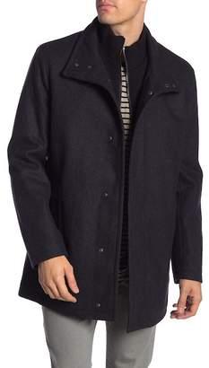 Andrew Marc Coyle Rib Knit Bib Coat