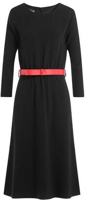 Moschino Belted Crepe Dress
