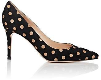 Gianvito Rossi Women's Polka Dot Suede Pumps