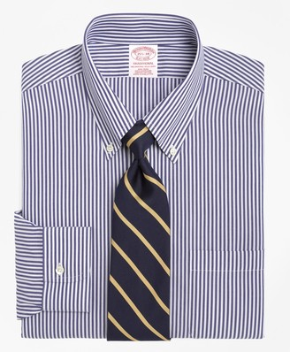 Brooks Brothers Traditional Relaxed-Fit Dress Shirt, Non-Iron Bengal Stripe