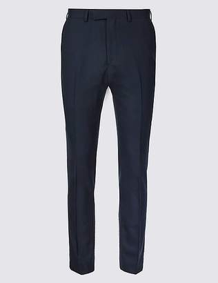 Marks and Spencer Big & Tall Navy Skinny Fit Wool Trousers