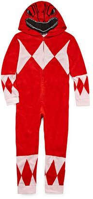 Power Rangers Novelty Licensed One Piece Pajama-Preschool Boys
