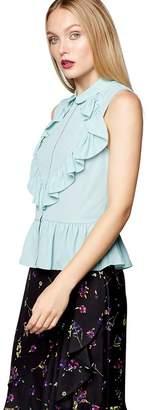 Preen Studio by Pale Green Frill Sleeveless Shirt
