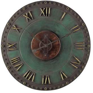 Sterling Metal Roman Numeral Outdoor Wall Clock.