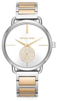 Michael Kors Portia Stainless Steel Multifunction H-Link Bracelet Watch