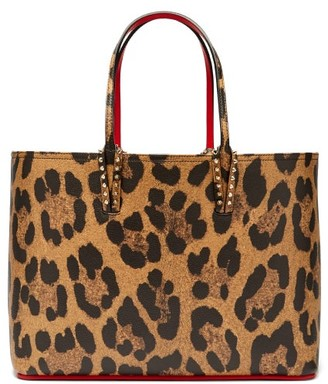 510f7c5ee45b Christian Louboutin Cabata Leopard Print Grained Leather Tote - Womens -  Leopard